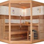 Deluxe Sauna room for 2-3 people dry sauna FS-1231 with CE-FS-1231