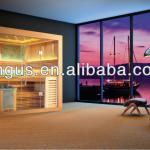 Luxurious traditional sauna room,full glass room with 6kw sauna stove YH-1246-YH-1246