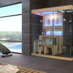 Combination of dry sauna room & wet steam room FS-1389-FS-1389
