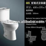 Economic Ceramic Two Pieces Toilet-FIRST-665