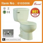 Porcelain siphonic color two piece toilet set-0103006