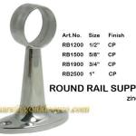 Zinc alloy wardrobe hanging rail tube support (RB1200)-RB1200