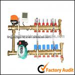 Brass distributor Manifold for floor heating system-FS4-1