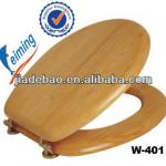 18Inch MDF Pine Soild Wooden Fumigate Certification Toilet Seat-W-401