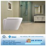NEW MODERN CERAMIC TOILET WALL HUNG WC PAN SEAT DUAL FLUSH CISTERN BATHROOM UK STOCK-K010200500A1