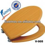 Hot sale 18Inch MDF Venner Wooden grain Toilet Seat-V-005