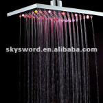 24 pcs LED lights copper square overhead shower head-RCT-S8064