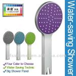ABS Plastic Colored Panel Water Saving Bubble Spray Handheld Shower Head-1101E