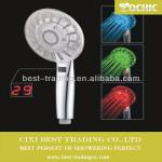 2013 new design LED shower head,Digital Display handheld shower-QX-KE006AT-SM