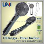 UNI10531 wholesale bathroom water saving rainfall spa micro bubble 3 fuction ABS plastic hand shower head set-UNI10531 plastic hand shower head