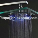 New!!8 Inch glass led color changing shower head (L-1003)-L-1003