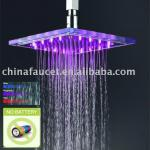 "8""*8"" Water Saving LED Glass Shower Head-QH320"