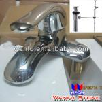 Faucet with pop up drain and Ceramic Sink for Bathroom-WF-PUD01