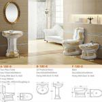 unique decorated ceramic toilet three set-YMS-1803