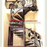 2013 top-selling indoor hand-forged metal spiral stairs