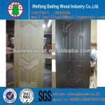 3mm melamine faced mould veneer door HDF door