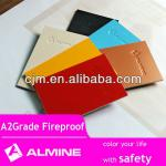 Almine A2 and B1 Grade certificated fireproof ACP wall panels 3-5mm thickness color aluminum composite panel