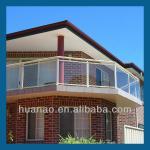 balcony glass balustrade,semi-frameless glass fencing,