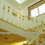 crystal stair railing for house decoration