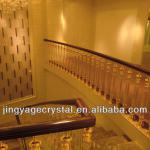 Decorative Crystal Balusters With PVC Handrail