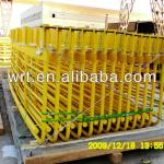 Furnace handrails and frame made of steel plates and pipes