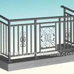 Galvanized mild steel balcony balustrade