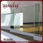 glass balustrade with aluminium channel
