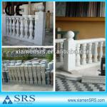 Granite and marble stone balustrade