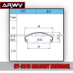 HY-2013 Aluminum Handrail For Balconies Components E101