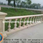 Nature yellow sandstone balustrade