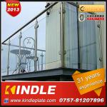 professional Stainless Steel Glass Railing from sheet metal fabrication with 31 years experience