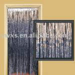 TECH-SILVER METALLIC FRINGED DOOR CURTAIN