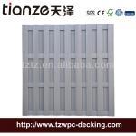 Tianze Outdoor garden wood plastic composite WPC fence 1800x1800mm