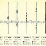 WH13B001 2013 simple design wrought iron railing baluster