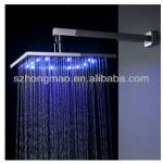 "Luxury 12"" chrome square LED shower head with water saving-HM-15"