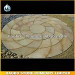 Haobo Hot Sale Cheap Natural Stone Yellow Sandstone Flagstone-HBSL-01-sandstone flagstone