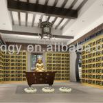 Metal Aluminium Alloy Columbarium for Single and Double Niches-Customerization Available-GQ-0028